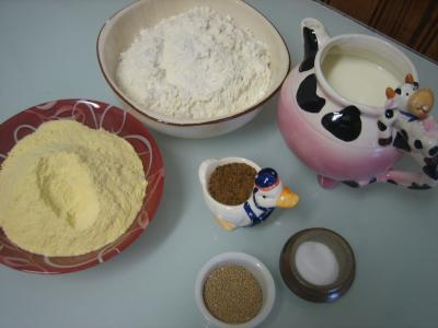 Ingrédients pour la recette : Pain au maïs à l'Irlandaise