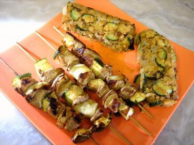 Image : Assiette de porc aux restes de polenta