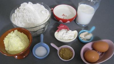 Ingrédients pour la recette : Pain au maïs