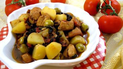 Recette Saladier de blancs de poulet bastiaise façon Corse