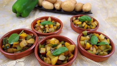 Recette Pommes de terre aux poivrons