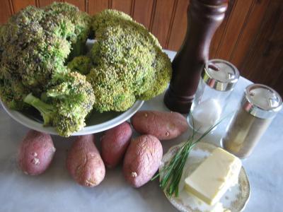 Ingrédients pour la recette : Purée de brocolis
