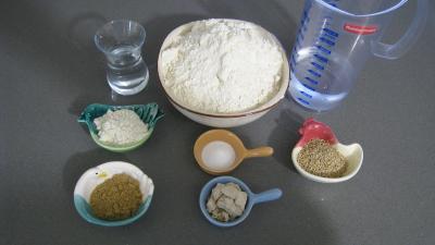 Ingrédients pour la recette : Pain au sésame