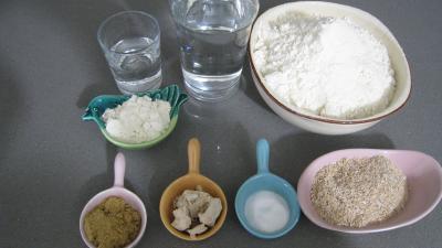 Ingrédients pour la recette : Pain au son