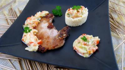 Recette Assiette de côtes de porc au lait de coco