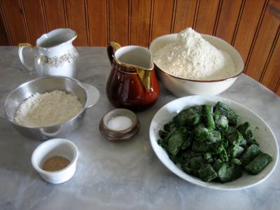 Ingrédients pour la recette : Pain aux épinards