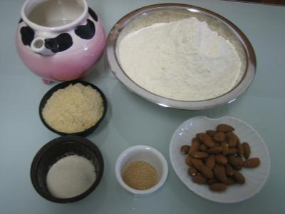Ingrédients pour la recette : Pain aux amandes
