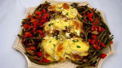 Recette Assiette de côtes de porc gratinées au parfum de Corse
