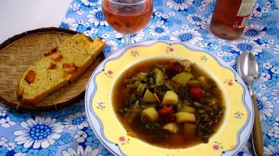 Cuisine diététique : Assiette Caldo verde, soupe façon portugaise