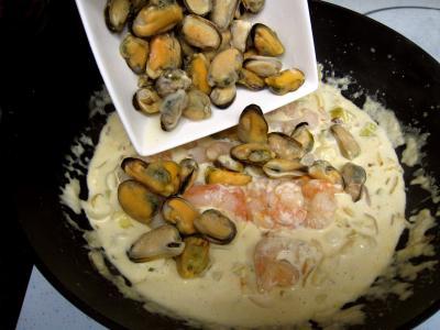 Cassolettes de moules et polenta au boursin - 9.4
