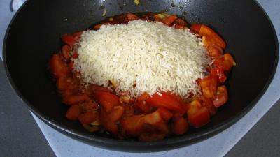 Riz, crevettes, moules et raie à la portugaise - 6.3