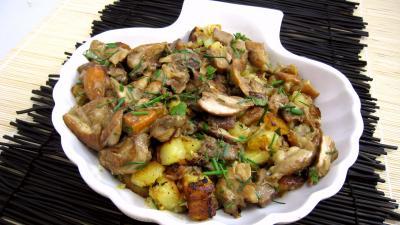 Recette Cèpes aux pommes de terre à la landaise