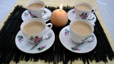 boissons chocolat : Tasses de café au chocolat