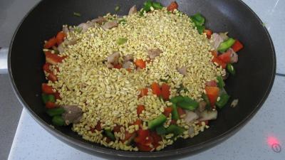 Sauté de dinde au blé et aux poivrons - 5.3