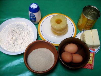 Ingrédients pour la recette : Cake à l'ananas