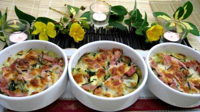 Image : Cassolettes de blé aux courgettes