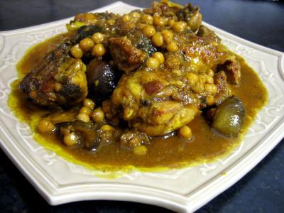 Cuisine orientale : Assiette de poulet aux figues et miel