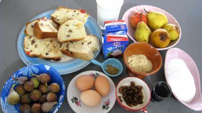 Ingrédients pour la recette : Pain perdu aux fruits
