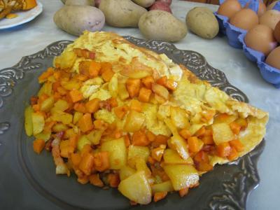 Omelette au potimarron et au chèvre - 6.4