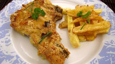 Recette Assiette de côtes de porc panées