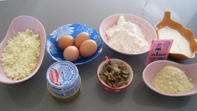 Ingrédients pour la recette : Cake au thon