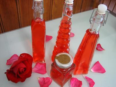 Recette Vinaigre de roses