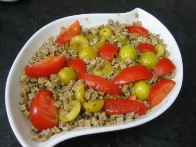 Salade végétarienne aux crozets et aux mirabelles - 6.1
