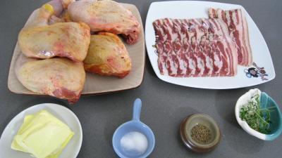 Ingrédients pour la recette : Cuisses de poulet grillées façon américaine