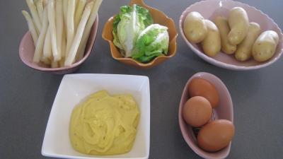 Ingrédients pour la recette : Salade Argenteuil