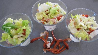 Verrines de homard en salade - 7.1