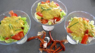 Verrines de homard en salade - 7.3