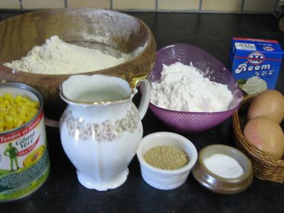 Ingrédients pour la recette : Pain aux grains de maïs doux