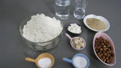 Ingrédients pour la recette : Pain aux noisettes