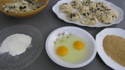 Croquettes de tagliatelles aux champignons - 7.2