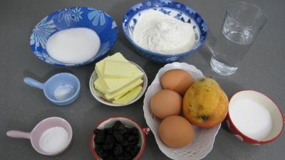 Ingrédients pour la recette : Cake à la poire
