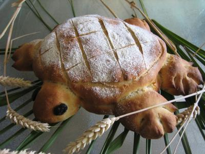 Recette Pain aux oignons en forme de tortue