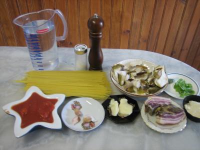 Ingrédients pour la recette : Capellini aux cèpes