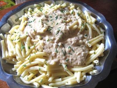 Recette Macaronis sauce aux noisettes