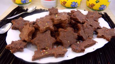 Image : Plat de biscuits sablés de l'avent