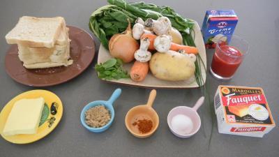 Ingrédients pour la recette : Velouté de bettes