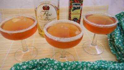 Image : Verres de cocktail au floc de Gasgogne