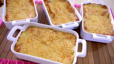 Recette Crevettes en gratin aux pommes de terre