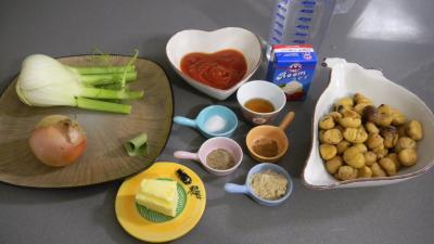 Ingrédients pour la recette : Crème de châtaignes au miel