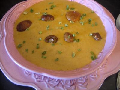 Recette Crème de cèpes au curry