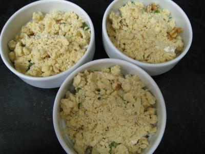 Crumble de camembert et sa salade - 12.1