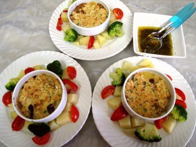 Crumble de camembert et sa salade - 14.3