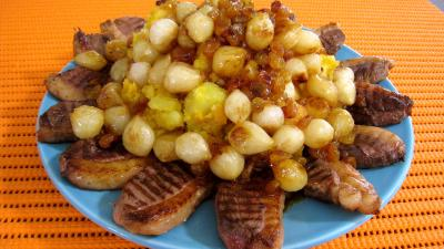 Recette Potimarron et pommes de terre aux oignons confits