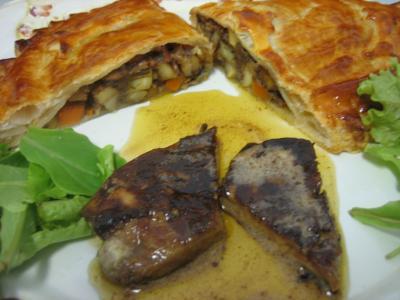 Foie gras et son chausson aux cèpes et panais - 18.2