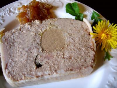 Recette Part de terrine de campagne au foie gras