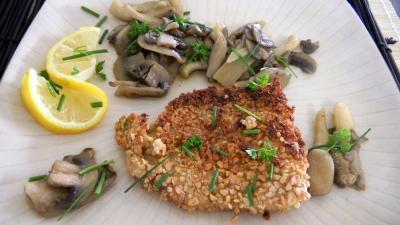 Recette Assiette de merlan aux champignons et pleurotes